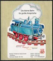 C7411 - Werbung Berliner TT Bahnen Zeuke - Modelleisenbahn Eisenbahn Aufkleber - Echelle TT