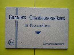 Folx Les Caves ,Champignonnieres ,carnet 8 Cp - Belgique