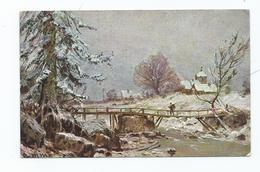 Postcard Winter Series No 5413 Unused S.hilesheimer Winter Scene Snow - Christmas