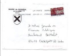 LETTRE DE MAIRIE DE BUSSEOL PUY DE DOME - 1961-....