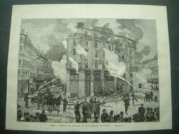 GRAVURE De 1881...PARIS. INCENDIE Des MAGASINS De NOUVEAUTES Du PRINTEMPS - Estampes & Gravures