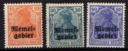 Memel (Klaipeda) 1920 Mi 14-15; 17 * [260819VII] - Memelgebiet