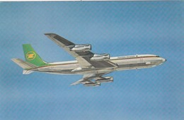 AEROPLANO-AIRPLANE-AVION-FLUGZEUG-ZAMBIA AIRWAYS=BOEING 707-320C=-CARTOLINA VERA FOTOGRAFIA NON VIAGGIATA - 1946-....: Era Moderna