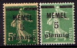 Memel (Klaipeda) 1920 Mi 18 A + B * [260819VII] - Memelgebiet