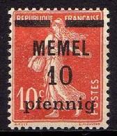 Memel 1920 Mi 19 Y * [260819VII] - Memelgebiet