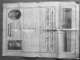 PROGRAMME ARENES  DE MONTPELLIER INAUGURATION 13 MAI 1934 GRANDE COURSE ROYALE - Programmes