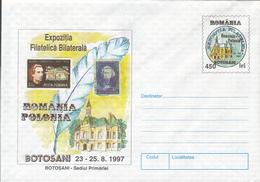 ROMANIA-POLAND PHILATELIC EXHIBITION, COVER STATIONERY, 1997, ROMANIA - Marcofilia