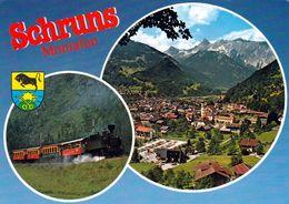 1 AK Österreich / Vorarlberg * Blick Auf  Schruns Und Die Montafoner Dampfbahn -  Luftbildaufnahme * - Schruns