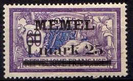 Memel (Klaipeda) 1920 Mi 27 Y * [260819VII] - Memelgebiet
