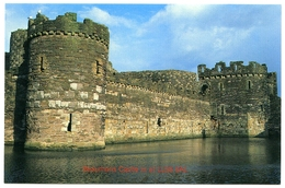 POST OFFICE PICTURE CARD : BEAUMARIS CASTLE IS AT LL58 8AL - Anglesey