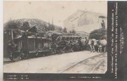 CPA DERAILLEMENT D'UN TRAIN DE MARCHANDISES A LAROQUE DE FA ( AUDE ) 11  24 JUIN 1912 - Chemins De Fer