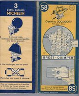 Carte Géographique MICHELIN - N° 058 BREST - QUIMPER 1950 - Strassenkarten
