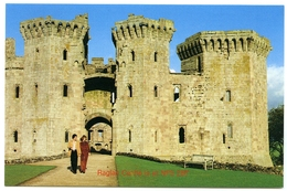 POST OFFICE PICTURE CARD : RAGLAN CASTLE IS AT NP5 2BT - Monmouthshire