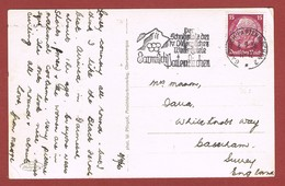 Slogan Olympiade 1936 Garmisch Partenkirchen Op Fantasiekaart - Summer 1936: Berlin