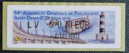 FRANCE - VIGNETTES ILLUSTREES - VIG 217 - 2016 - 64è ASSEMBLEE GENERALE PHILAPOSTEL - ST DENIS D OLERON - 1999-2009 Illustrated Franking Labels