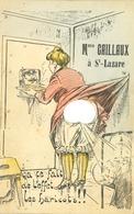 CPA - Mme Caillaux à St Lazare - Ca Te Fait De L' Effet Les Haricots !!! (carte Système Fantaisie) - Humour
