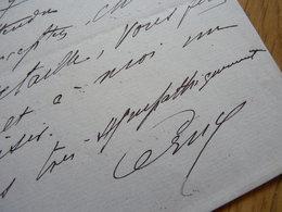 Berthe CERNY (1868-1940) Actrice Théâtre COMEDIE FRANCAISE - Autographe à Edouard Detaille - Autographes