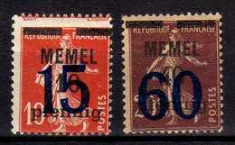 Memel (Klaipeda) 1921 Mi 34-35  */(*) [260819VII] - Memelgebiet