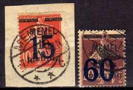Memel 1921 Mi 34-35, Gestempelt [260819VII] - Memelgebiet