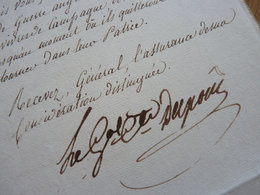 General DUPONT DE L'ETANG - Autographs