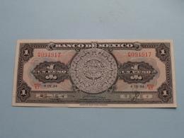 UN Peso 1 ( Q094917 ) Serie ET 8-IX-54 - Banco De MEXICO ( For Grade, Please See Photo ) ! - Mexico
