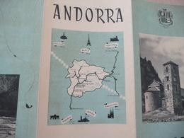 Plaquette Touristique Andorre Andorra 3 Volets Année 50? - Turismo