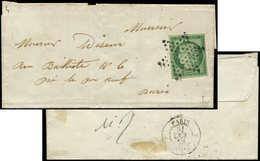 Let EMISSION DE 1849 - 2    15c. Vert, Obl. ETOILE S. LSC Locale, Arr. 21/10/52, TTB - 1849-1850 Ceres