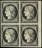 (*) EMISSION DE 1849 - 3    20c. Noir Sur Jaune, BLOC De 4, Petit Bdf, TB - 1849-1850 Ceres