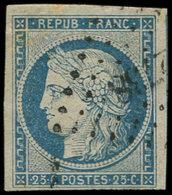 EMISSION DE 1849 - 4    25c. Bleu, Obl. PC 2738, Belles Marges, TTB - 1849-1850 Ceres