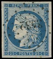 EMISSION DE 1849 - 4    25c. Bleu, Obl. PC 3432, TTB - 1849-1850 Ceres
