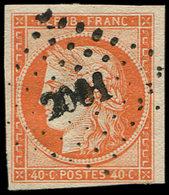 EMISSION DE 1849 - 5    40c. Orange, Oblitéré PC 2061, Frais Et TB. J - 1849-1850 Ceres