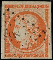 EMISSION DE 1849 - 5a   40c. Orange Vif, 3 Belles Marges, Obl. 898 Frappe Légère, TTB/Superbe, Br - 1849-1850 Ceres