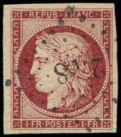 EMISSION DE 1849 - 6     1f. Carmin, Oblitéré PC 2788, Très Frais Et TTB - 1849-1850 Ceres