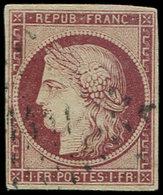 EMISSION DE 1849 - 6     1f. Carmin, Oblitéré PC, TB. C - 1849-1850 Ceres