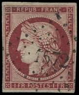 EMISSION DE 1849 - 6     1f. Carmin, Oblitéré PC 1572, Très Belle Nuance, TB - 1849-1850 Ceres