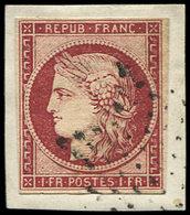 EMISSION DE 1849 - 6     1f. Carmin, Oblitéré ETOILE Sur Fragment, Frais Et TB - 1849-1850 Ceres