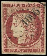 EMISSION DE 1849 - 6     1f. Carmin, Obl. PC 1096, TB - 1849-1850 Ceres