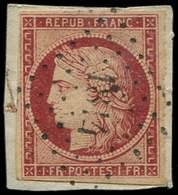EMISSION DE 1849 - 6a    1f. Carmin Clair, Oblitéré PC 1814 Sur Fragment, TB. S - 1849-1850 Ceres