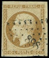 PRESIDENCE - 9    10c. Bistre-jaune, Obl. PC 898, TB. Br - 1852 Louis-Napoleon