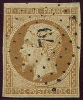 PRESIDENCE - 9    10c. Bistre-jaune, Oblitéré PC 79, Frappe Superbe - 1852 Louis-Napoleon