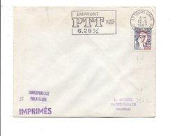 FLAMME EMPRUNT PTT 6.25 % TOURS GARE 1967 - Marcofilie (Brieven)
