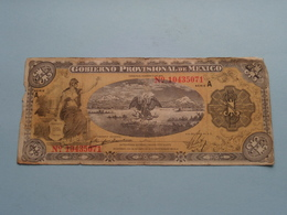 UN Peso 1 ( N° 10435071 ) Serie A - Militar 1914 - GOBIERNO Provisional De Mexico ( For Grade, Please See Photo ) ! - Messico