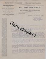 01 0634B BELLEGARDE AIN 1941 Exploitation Forestiere Bois Z. JEANTET Succ PERNOLLET Rue Des Arts à BINDA - France