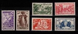 Reunion - YV 149 à 154 N* (legere) Complète Exposition Internationale - Réunion (1852-1975)