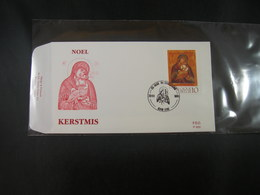 "BELG.1991 2437 FDC (Lede) :"" "" Kerstmis / Noél 1991 "" "" - FDC"