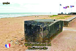 Set 4 Cartes Postales, WW II, Atlantique Mur, France, Bernières-sur-Mer, Wiederstandnest  28 - Oorlog 1939-45