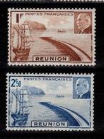 Reunion - YV 178 & 179 N* (legere) Petain - Réunion (1852-1975)
