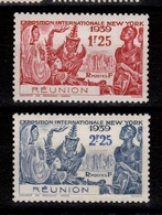 Reunion - YV 156 à 157 N* (legere) Exposition New York - Réunion (1852-1975)