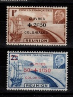 Reunion - YV 249 & 250 N* (legere) Oeuvres Coloniales - Réunion (1852-1975)