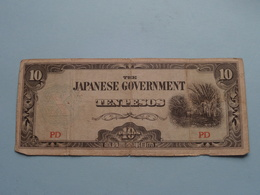 Ten PESOS 10 ( PD ) The JAPANESE Government ( For Grade, Please See Photo ) ! - Japan